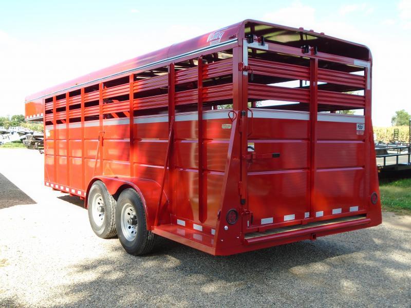 2019 Valley Trailers 6.8x20 stock Gooseneck 66 Livestock Trailer