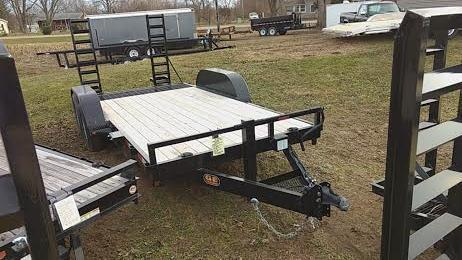 2018 16' Low Pro Bobcat-Machinery GE Equipment Trailer