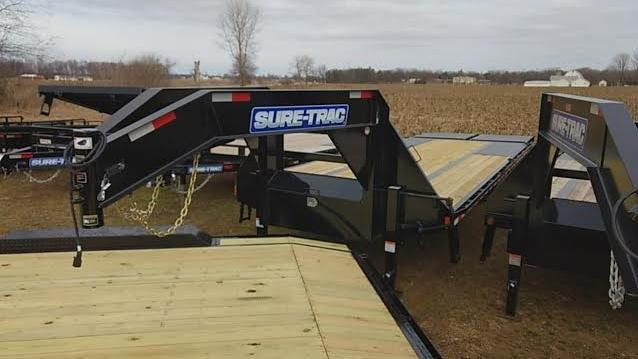 2018 Sure-Trac Equipment Trailer 20' + 5' Gooseneck Deckover 22500 GVW