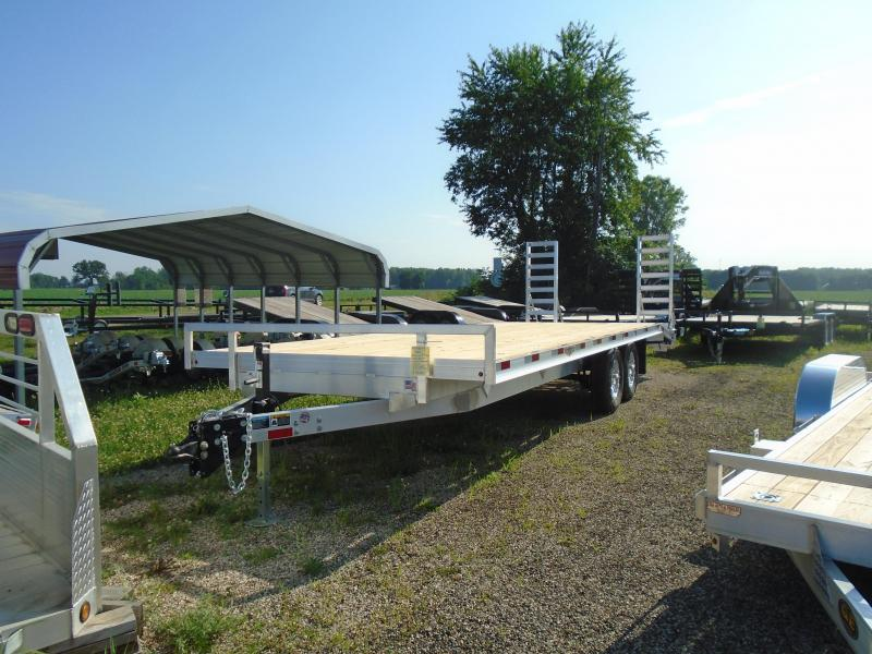 "2019 H and H Trailer 102""x20'+4' Aluminum/wood 14k Deckover Equipment Trailer"