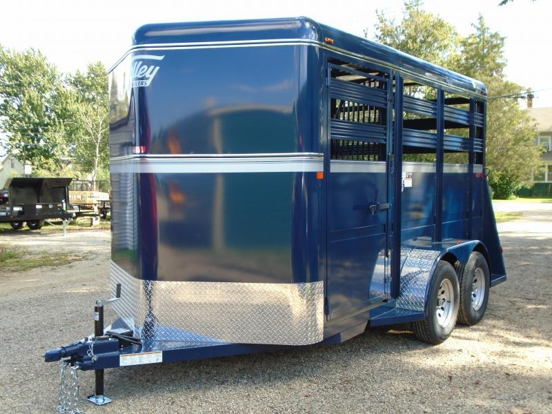 2019 Valley Trailers 6.8x13.8 stock slant trailer Livestock Trailer