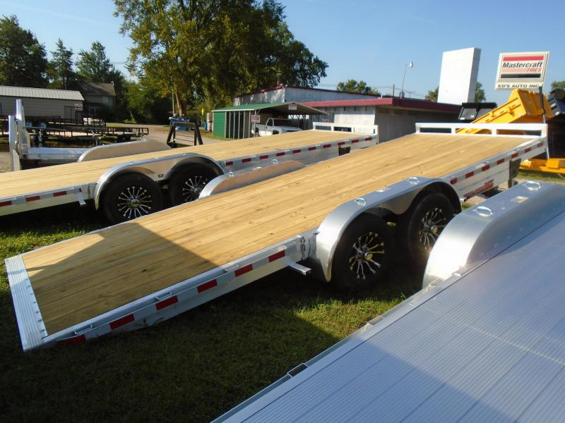2019 H and H Trailer 20 Aluminum Auto Transport/Tilt  7k Car / Racing Trailer