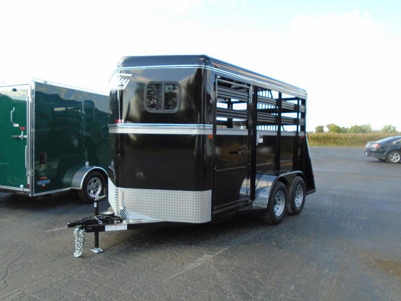 "2019 Valley Trailers 138""TWO-HORSE SLANT BP 7' Horse Trailer"