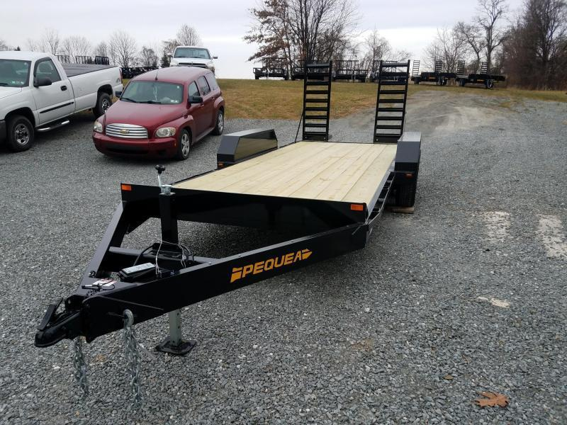 2018 Pequea SKID STEER 20' Equipment Trailer