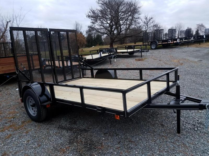 2018 Pequea 6X10 UTILITY WITH RAMPS Utility Trailer