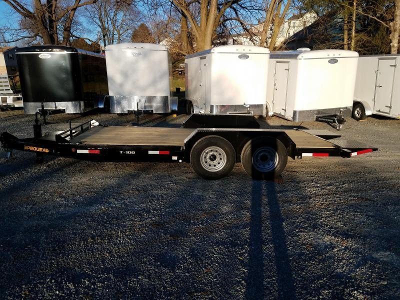 2018 Pequea T100 18 TILT DECK Equipment Trailer