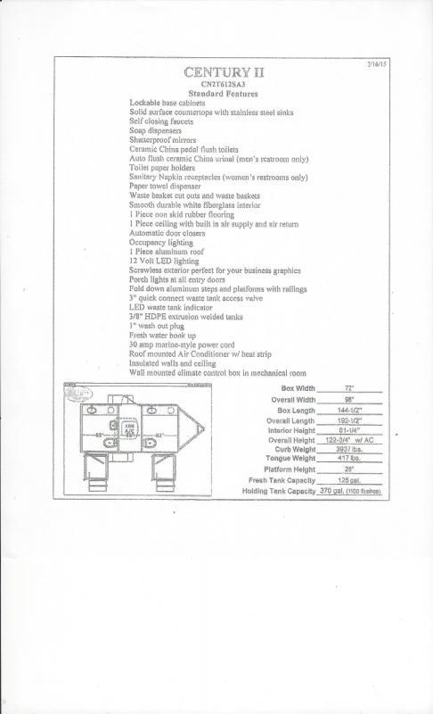 2019 Forest River 612SA 2 STALL Restroom / Shower Trailer
