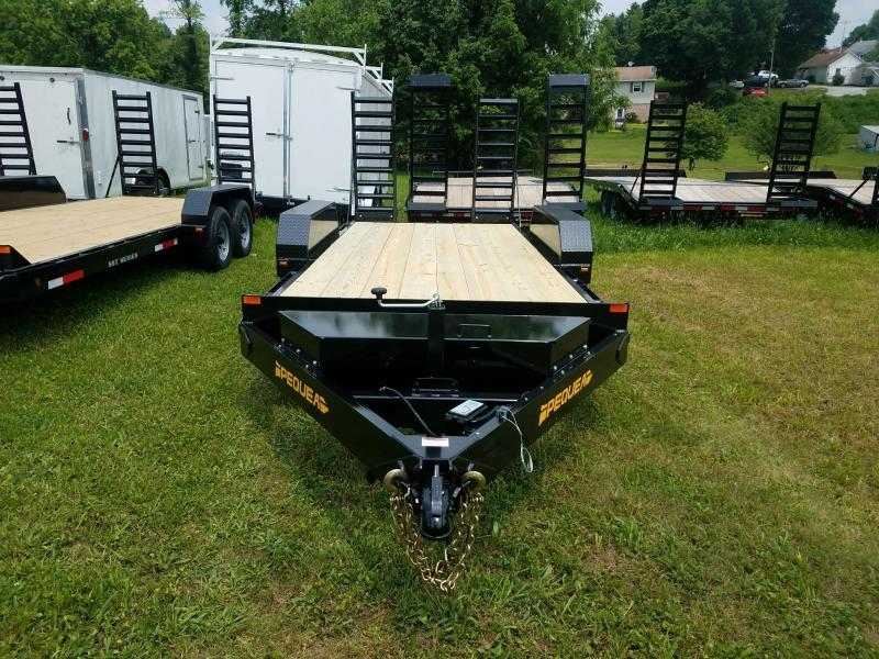 2018 Pequea SKIDSTEER 16' Equipment Trailer