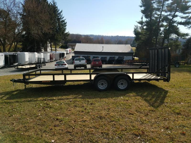 2018 Pequea 80X20 Utility Trailer With Ramps