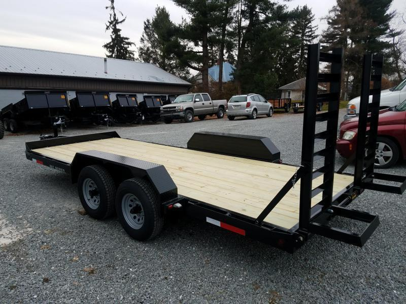 2019 Pequea SKIDSTEER 18' Equipment Trailer
