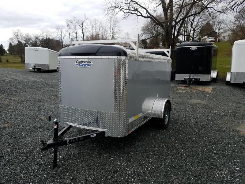 2018 Continental Cargo 5X10 BARN LADDER RACK Enclosed Trailer