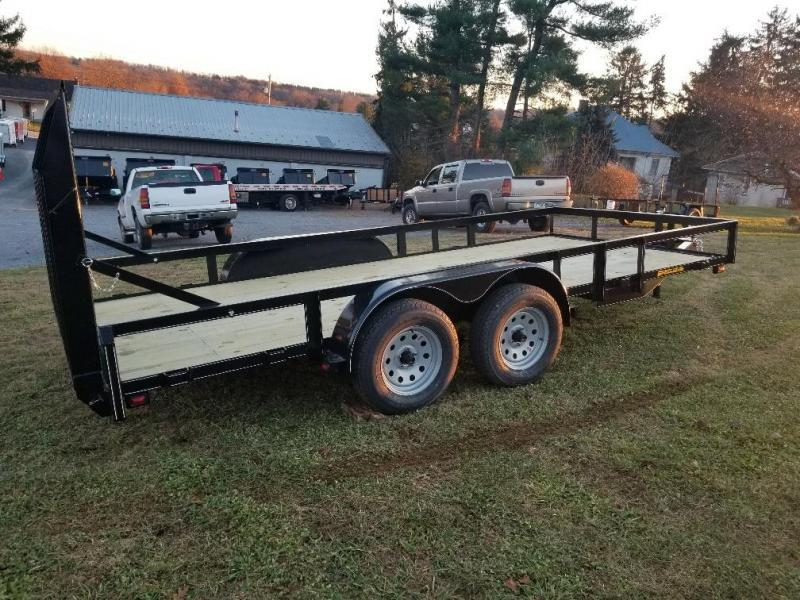 2018 Pequea 80x16 Utility Trailer with ramps