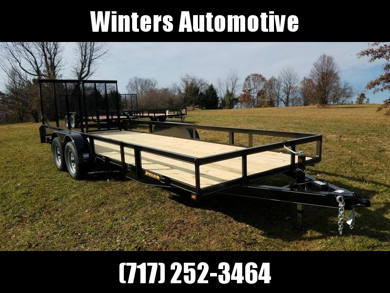 2019 Pequea 80X20 Utility Trailer With Ramps
