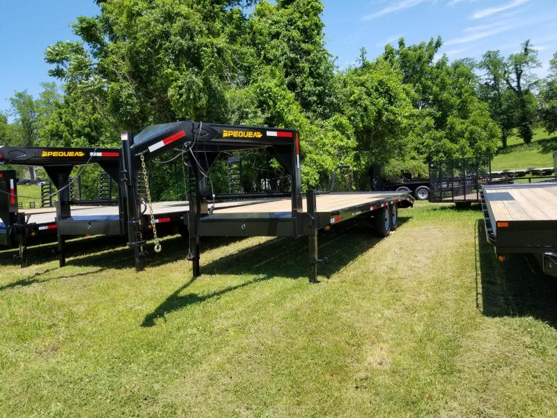 2019 Pequea Goose Neck DECKOVER 24 Flatbed Trailer LEVEL