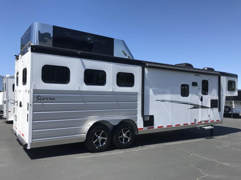 2019 Trails West Manufacturing Sierra 3H LQ 11 X 15 Horse Trailer