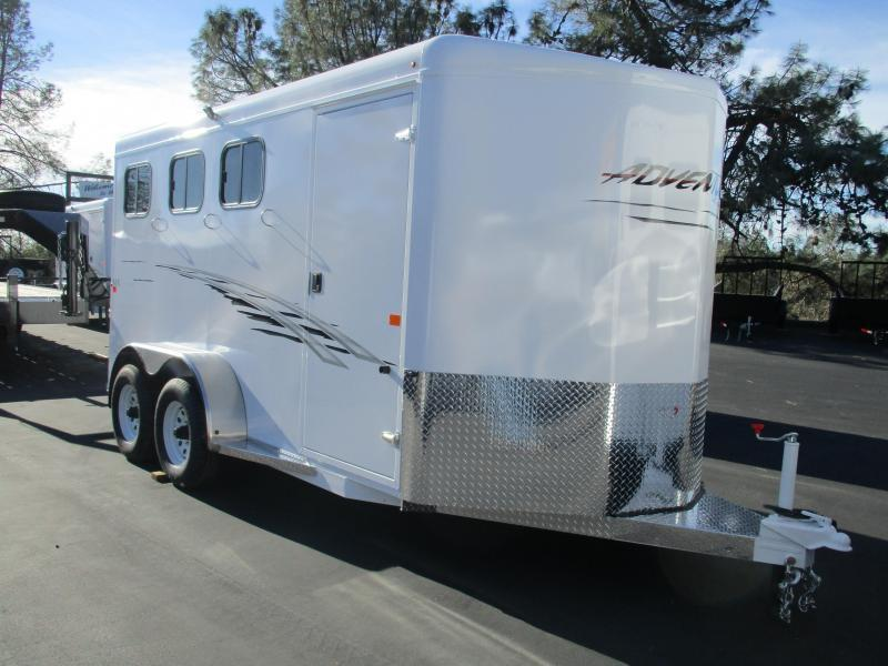 2019 Trails West Manufacturing Adventure MX 3H BP Horse Trailer
