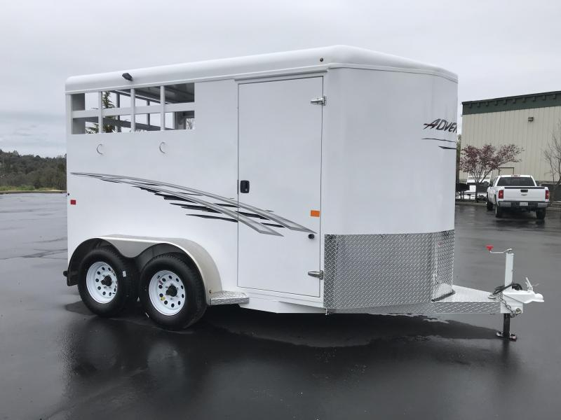 2018 Trails West Manufacturing Adventure 2H BP Horse Trailer