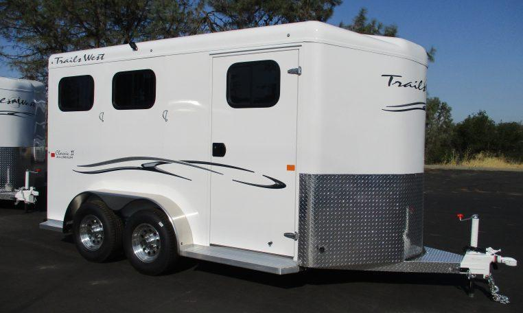 2019 Trails West Classic II 2H BP Horse Trailer