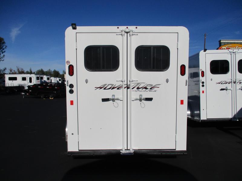 2019 Trails West Manufacturing Adventure MX 3H BP Horse Trailer