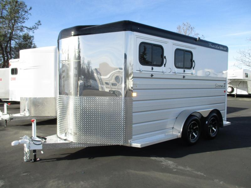 2019 Trails West Manufacturing Sierra II 2H BP Horse Trailer