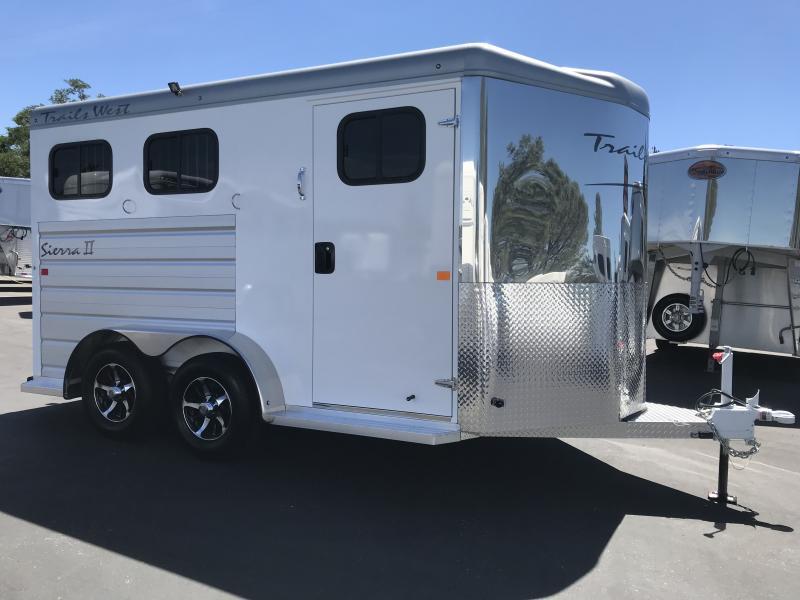 2019 Trails West Sierra II 2H BP Horse Trailer