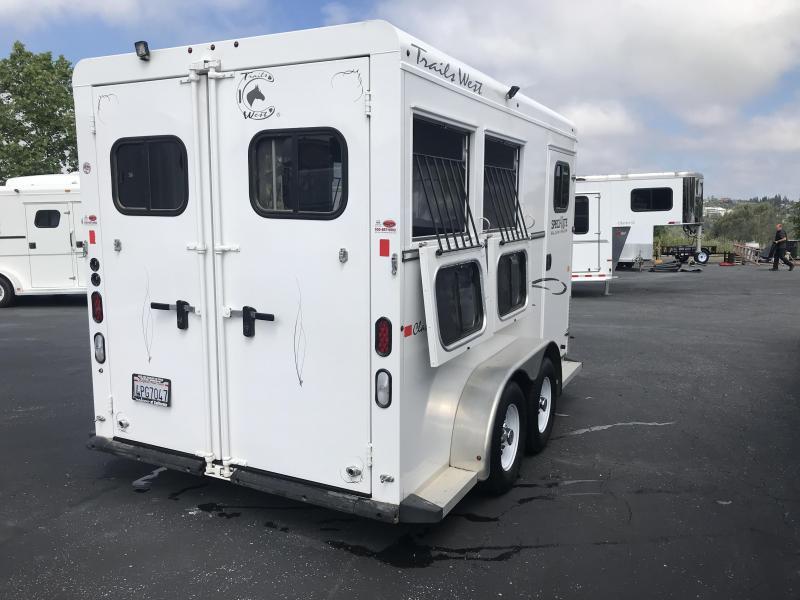 2016 Trails West Manufacturing Classic 2H BP Horse Trailer