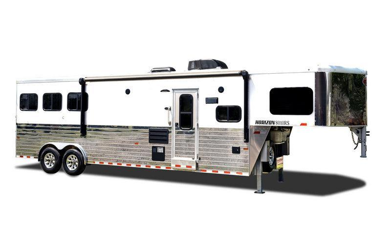 2020 Sundowner Trailers 3H LQ Horizon Slide Horse Trailer