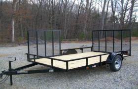 "Better Built 6'10"" x 12 Open Utility Trailer w/ Side Gate"