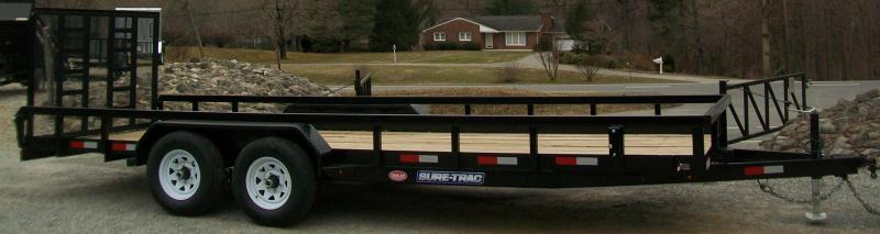 "Sure-Trac 6'9"" x 18 Tube Top Tandem Gate Utility Trailer"