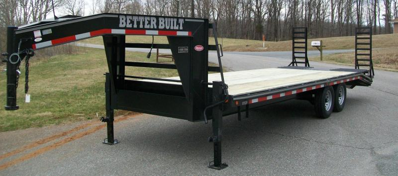 24' 14K Gooseneck Equipment Trailer w/Pop-Up Self Cleaning Dovetail