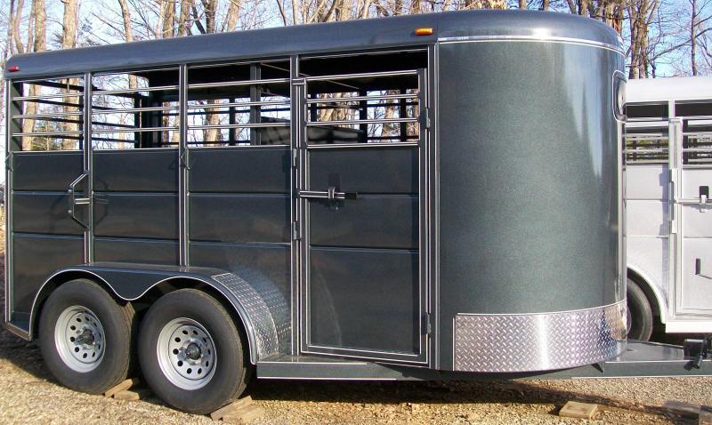 Calico 14' Bumper Pull Livestock Trailer