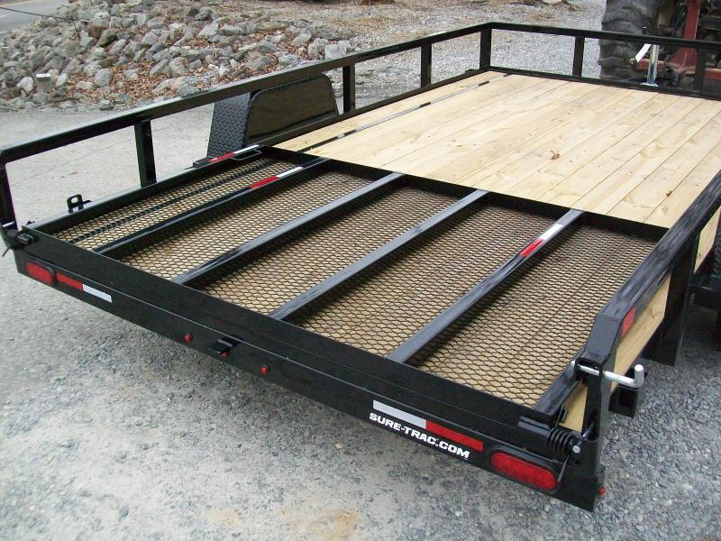 "Sure-Trac 6'9"" x 12 Tube Top Utility Trailer With Brakes"