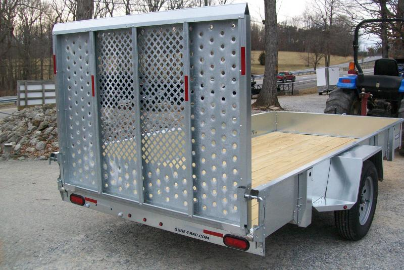 Sure-Trac 6 x 12 Galvanized Utility Trailer