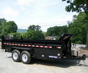 Sure-Trac 82 x 14 14K HD Twin Cylinder Dump Trailer