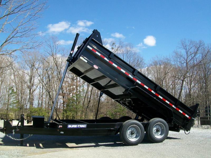 Sure-Trac 82 x 14 16K Telescopic Dump Trailer