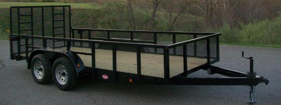 "Better Built 6'10"" x 14 24"" Mesh Sided Tandem Landscape Trailer"