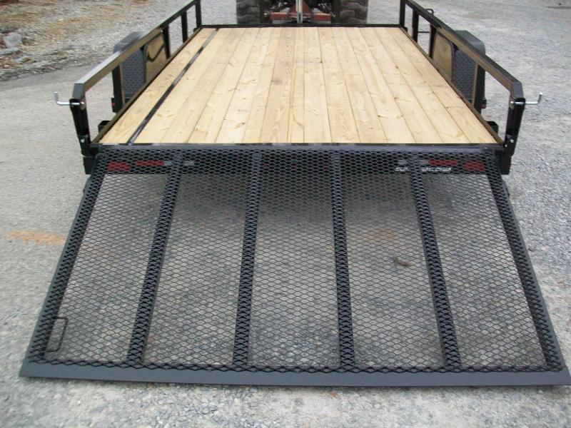 "Sure-Trac 6'9"" x 12 Tube Top Utility Trailer"