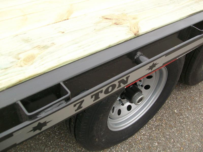 24' 14K Gooseneck Equipment Trailer w/Pop-Up Traction Cleat Dovetail