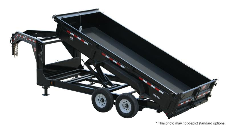 "2019 PJ Trailers 16'x83"" Low Pro XL Dump Trailer"