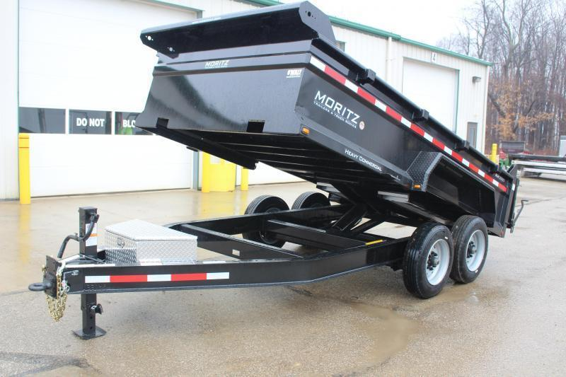 "2018 Moritz International 6'10""x14 HD Dump Trailer"