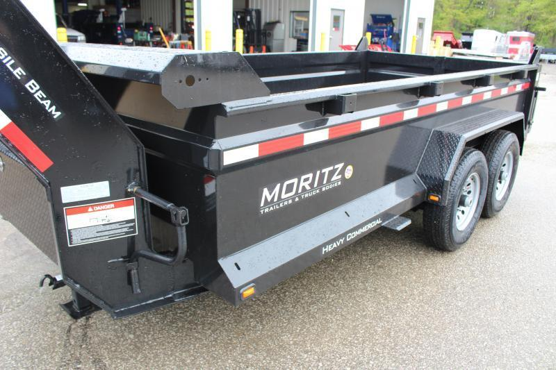 """2019 Moritz International 6'10""""x14 HD Dump Trailer"""