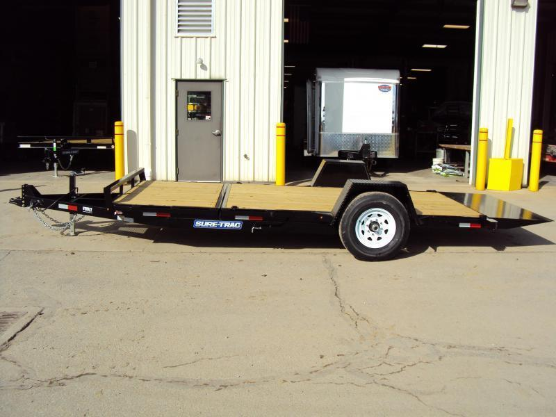 2019 Sure-Trac 7 x 12+4' TILT Equipment Trailer