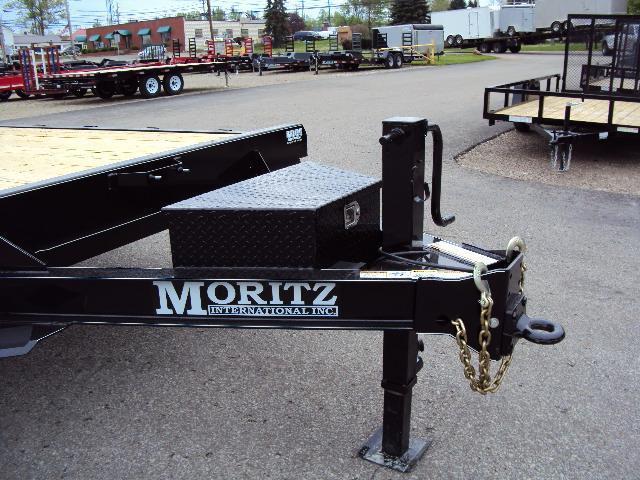 """2018 Moritz 8'6"""" x 18'+4' Heavy Duty Flatbed Trailer"""
