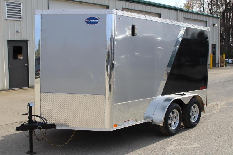 2019 United Trailers XLMTV 7x12 Motorcycle Trailer
