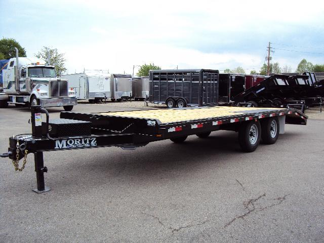 "2019 Moritz 8'6"" x 20'+4' Heavy Duty Flatbed Trailer in Ashburn, VA"