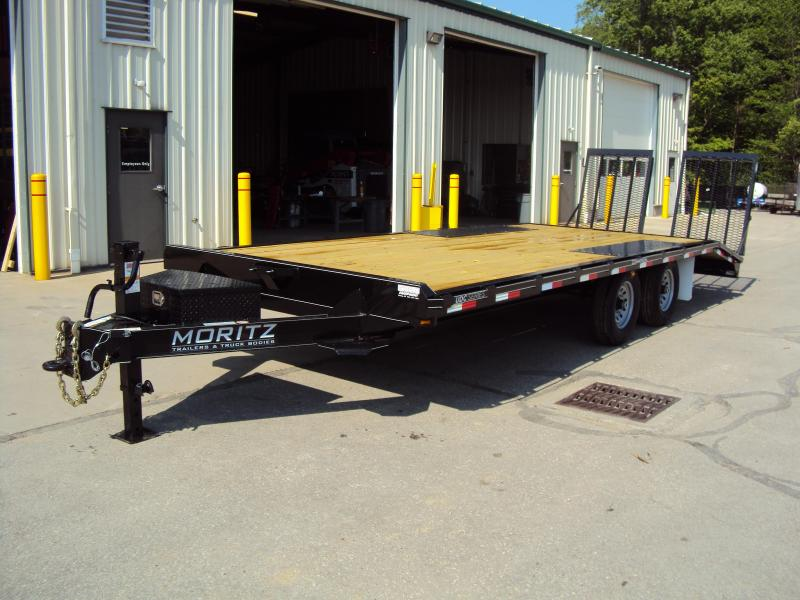 "2019 Moritz 8'6"" x 18'+4' Heavy Duty Flatbed Trailer in Ashburn, VA"