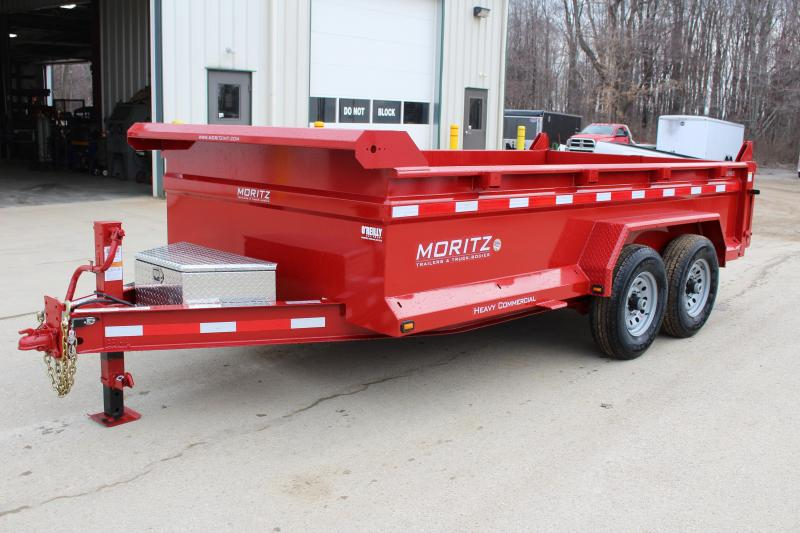 "2019 Moritz International 6'10""x14 HD Dump Trailer in Ashburn, VA"