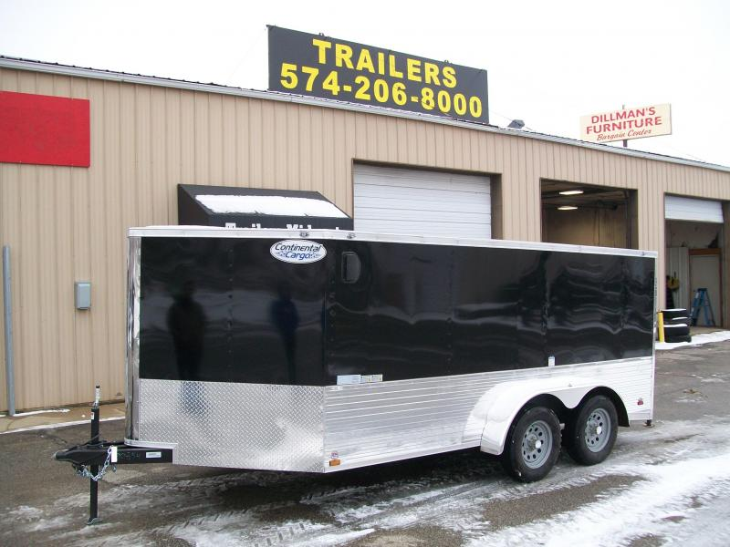 2019 Continental Cargo V-Low 7X14 7K GVWR Motorcycle Trailer