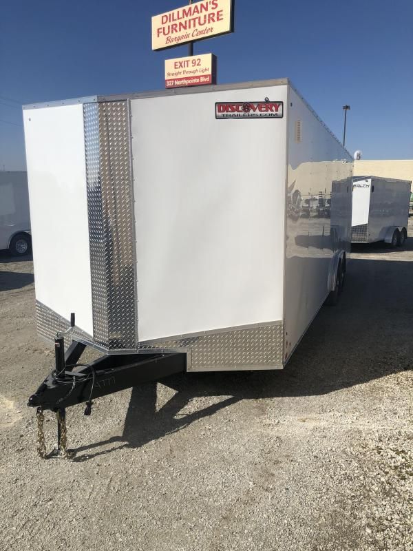 2020 Discovery Challenger ET 8.5X24 10K GVWR Enclosed Car Trailer $6475