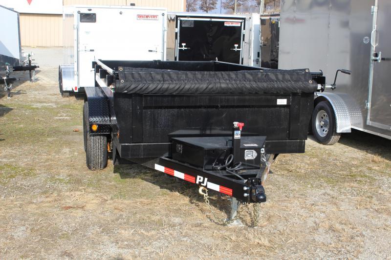 2019 PJ D3 6X12' 10K GVWR Dump Trailer